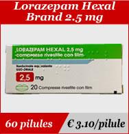 Lorazepam Hexal 2.5mg
